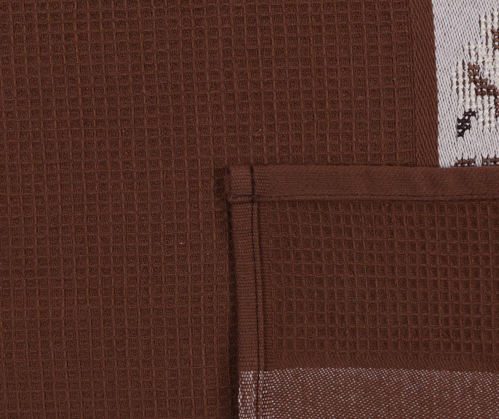 Set 6 prosoape de baie Pecetelik  Brown 45x70 cm