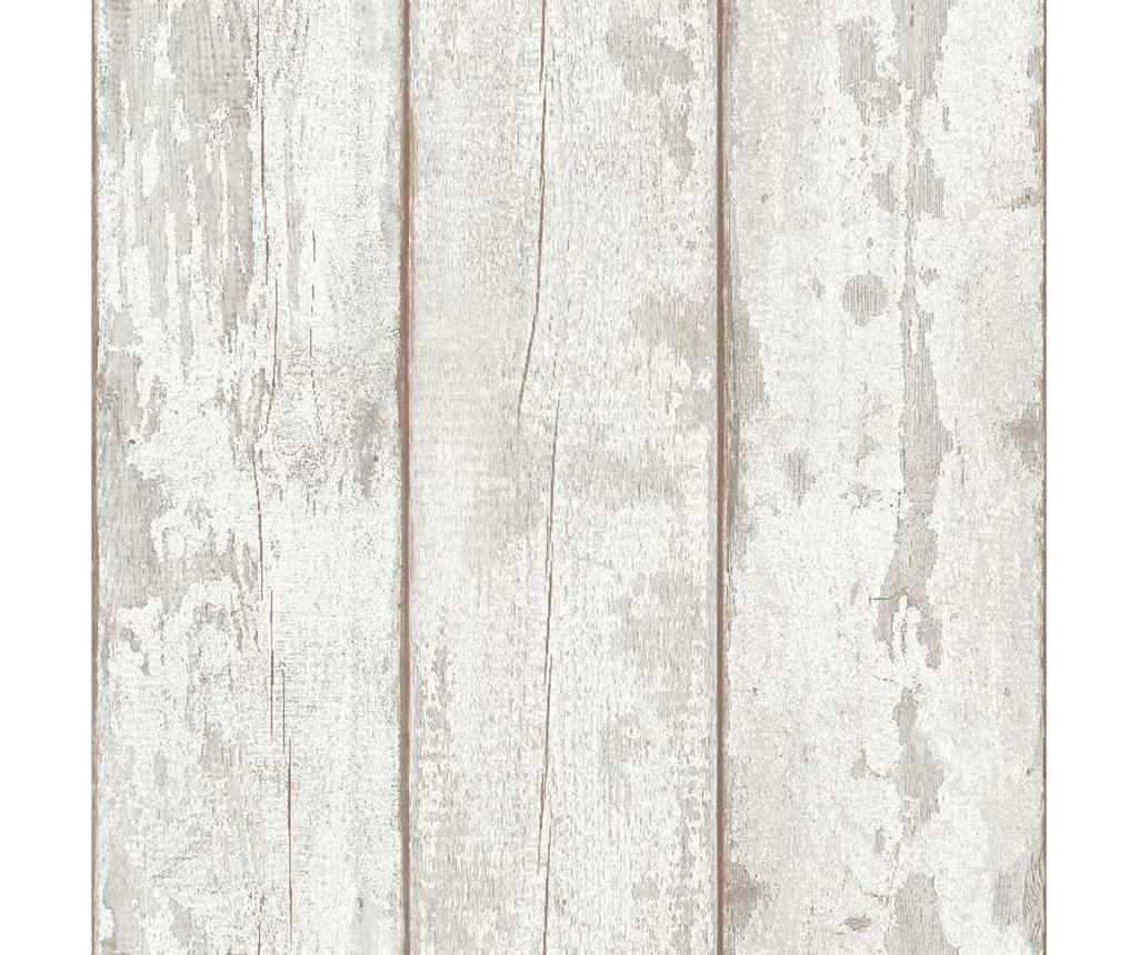 Washed Wood Taupe Tapéta 53x1005 cm