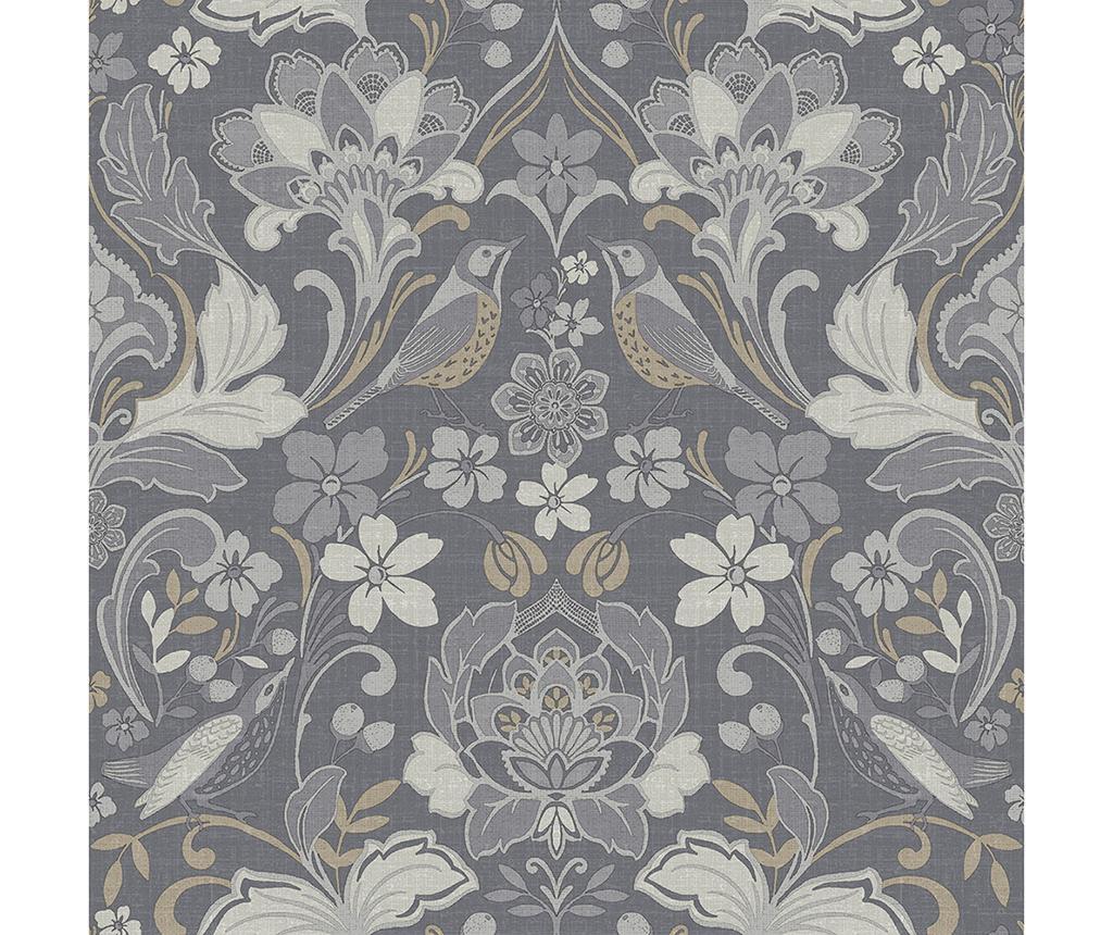 Folk Floral Grey Tapéta 53x1005 cm