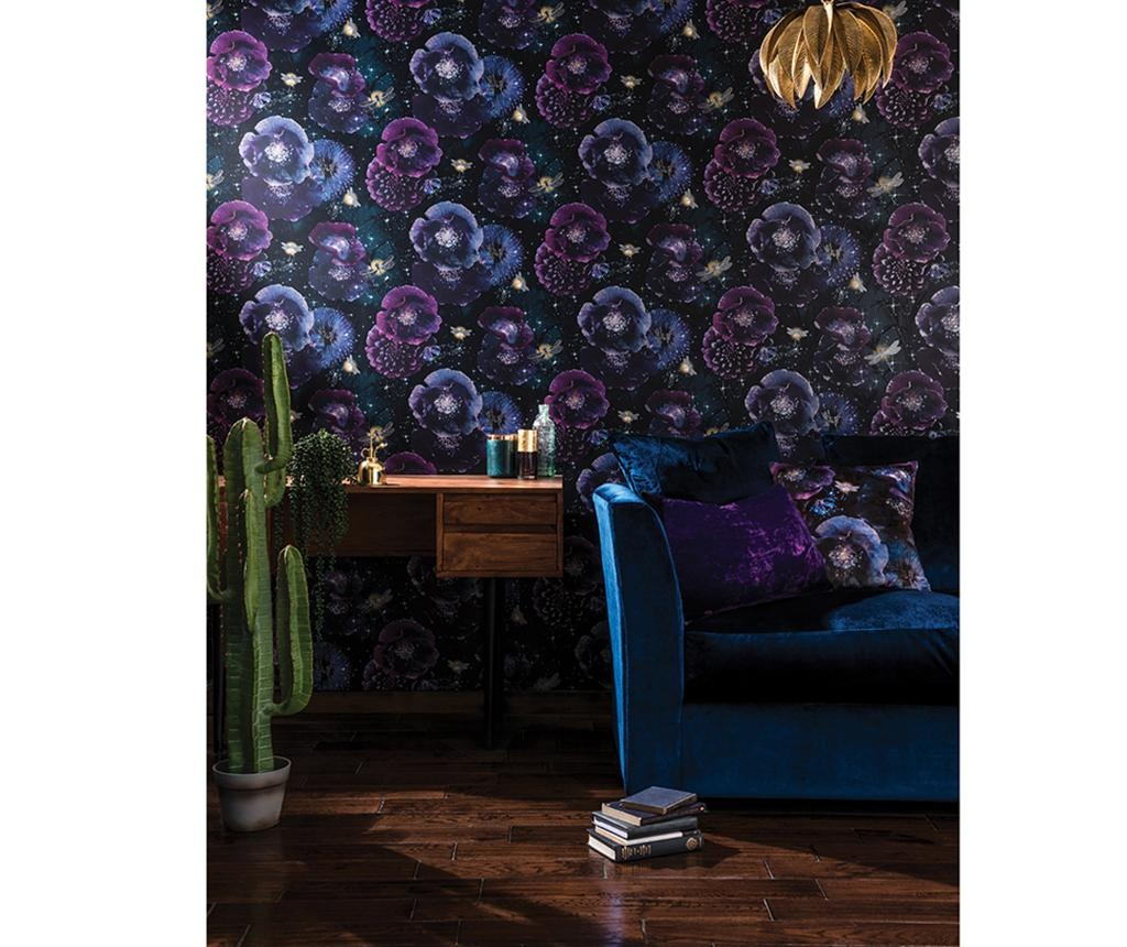 Nocturnal Purple Teal Tapéta 53x1005 cm