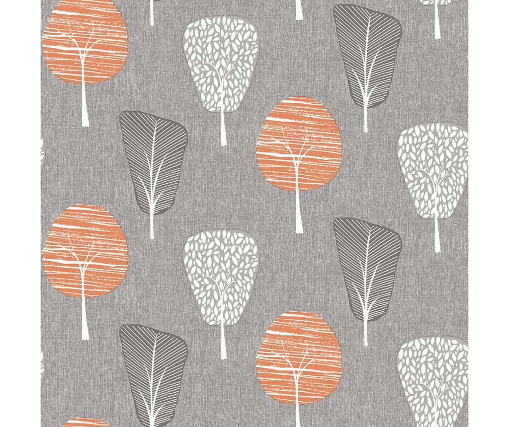Tapet Retro Tree Orange 53x1005 cm