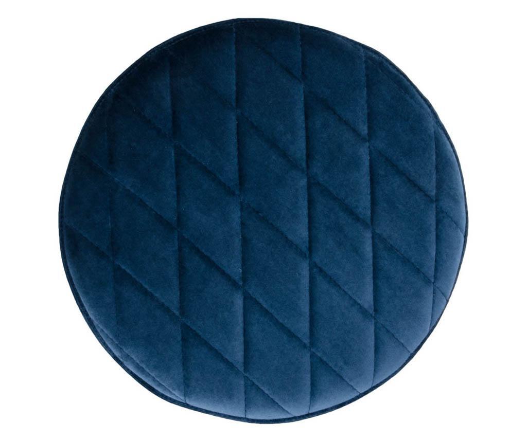 Taburetka Ejby Velvet Dark Blue