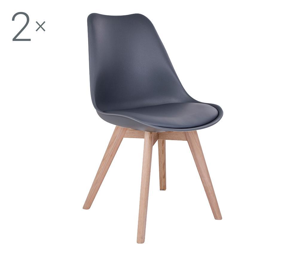 Set 2 scaune Molde Grey Natural