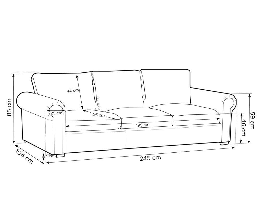 Canapea 3 locuri Antoine Beige