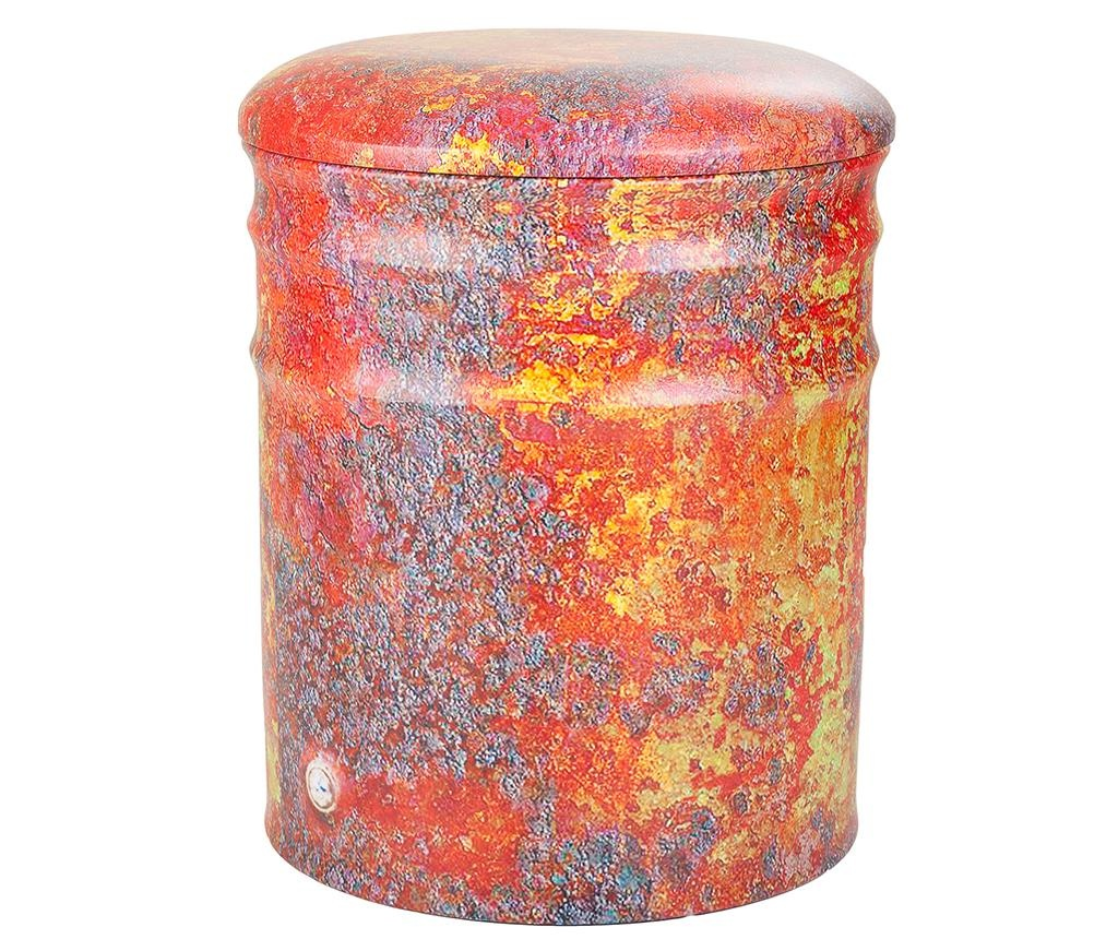 Set 2 taburete Drum Red