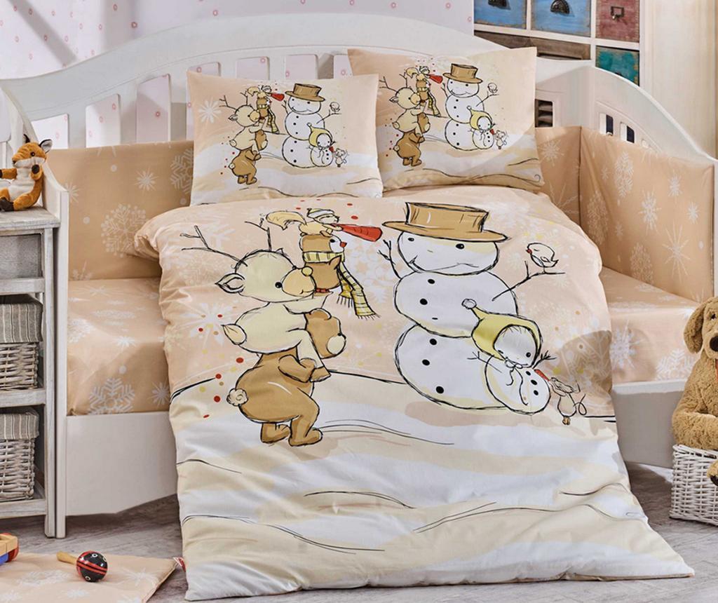 Posteljina za krevetić Poplin Supreme Snowball Beige