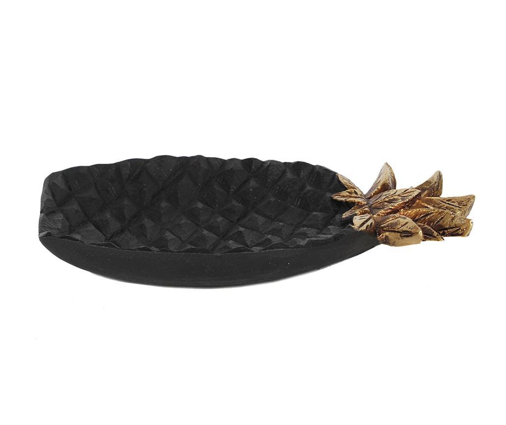 Platou decorativ Pineapple Black