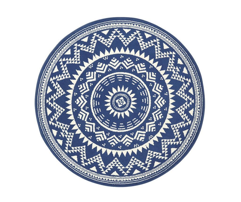 Covor Valencia Blue Cream Round 140 cm