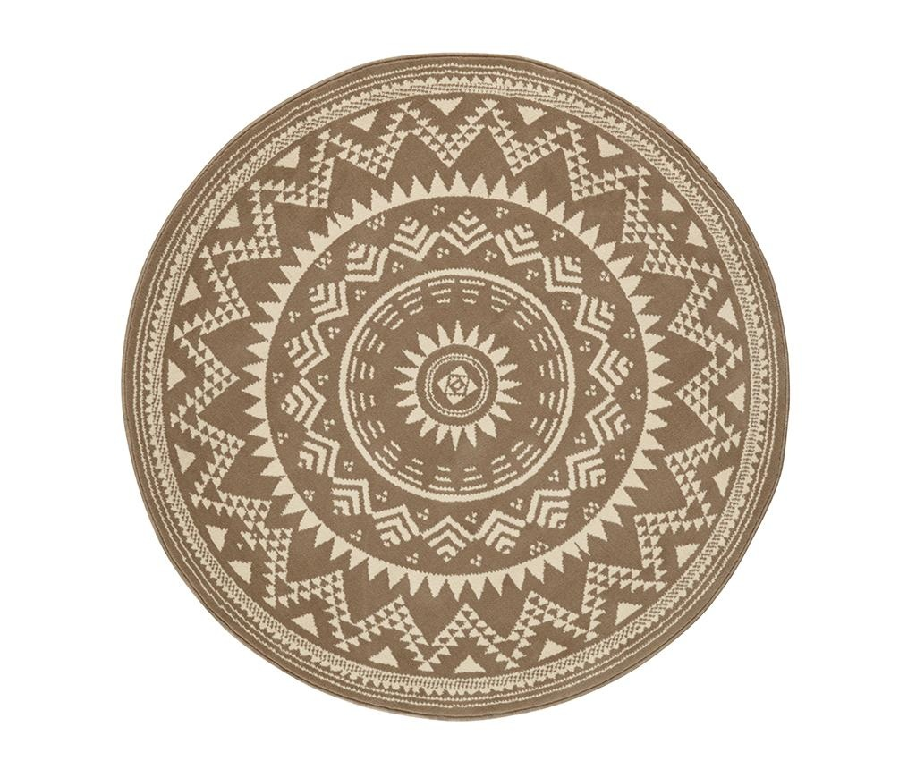 Tepih Valencia Brown Cream Round 140 cm