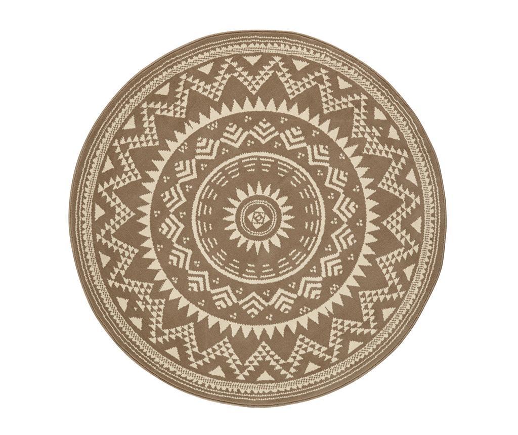 Covor Valencia Brown Cream Round 200 cm