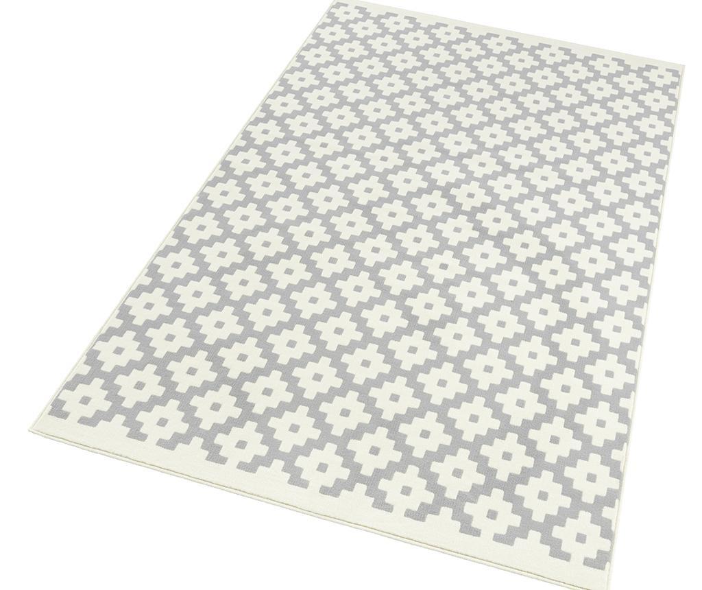 Covor Lattice Grey Cream 160x230 cm