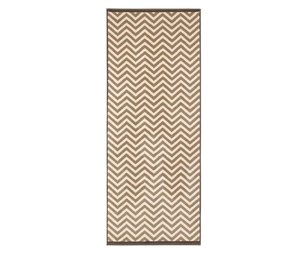 Covor Meridian Brown Cream 80x150 cm