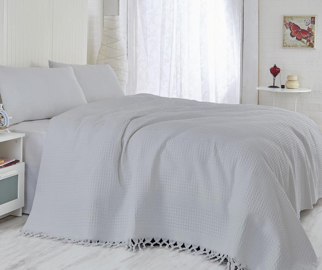Saheser Light Grey Pique ágytakaró 180x240 cm