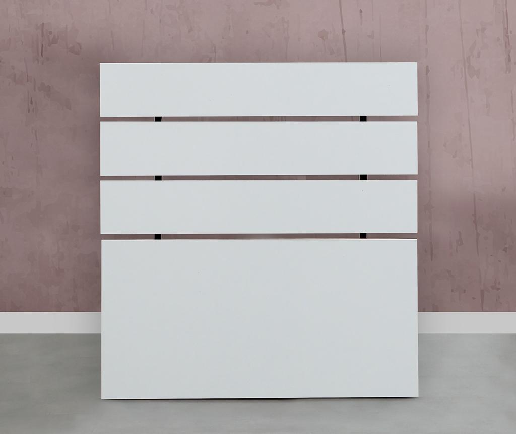 Tablie de pat Fuga Shiny White 90x100 CM