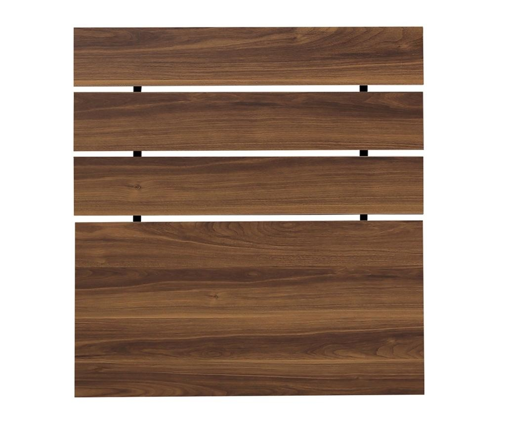 Tablie de pat Fuga Walnut Brown 100x100 cm