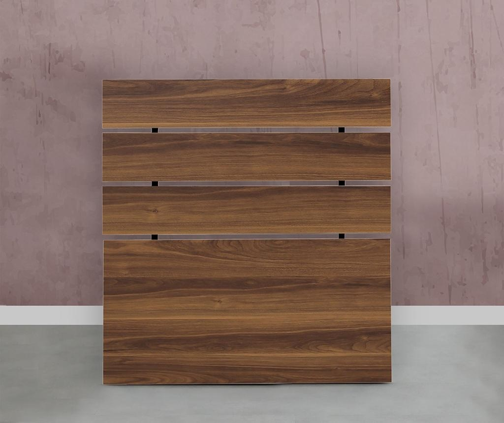 Tablie de pat Fuga Walnut Brown 90X100 cm
