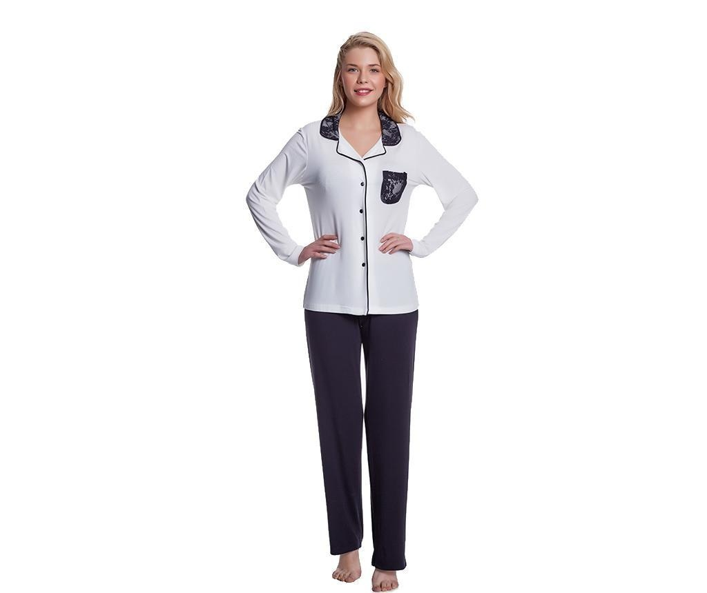 Pijama dama Olivia Black Cream XL