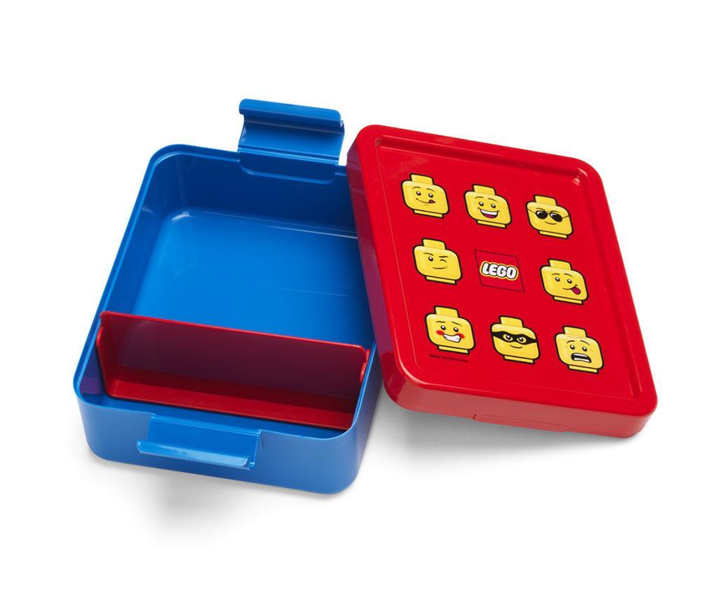 Set cutie pentru pranz si sticla sport Classic Blue