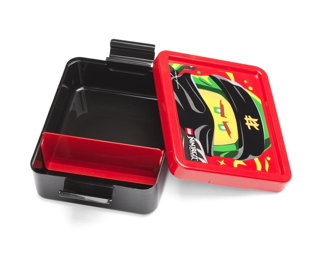 Set cutie pentru pranz si sticla sport Ninjago Red and Black
