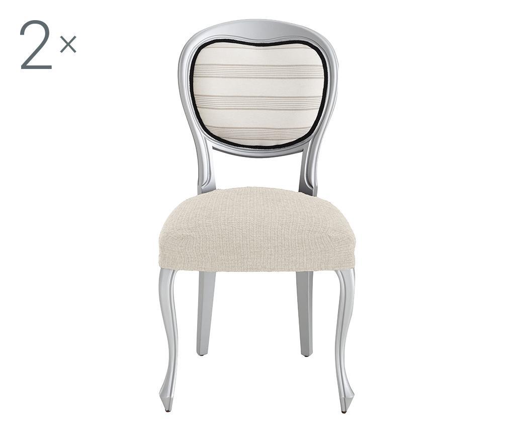 Set 2 elastične navlake za stolicu Dorian Ecru Backless 40x40 cm