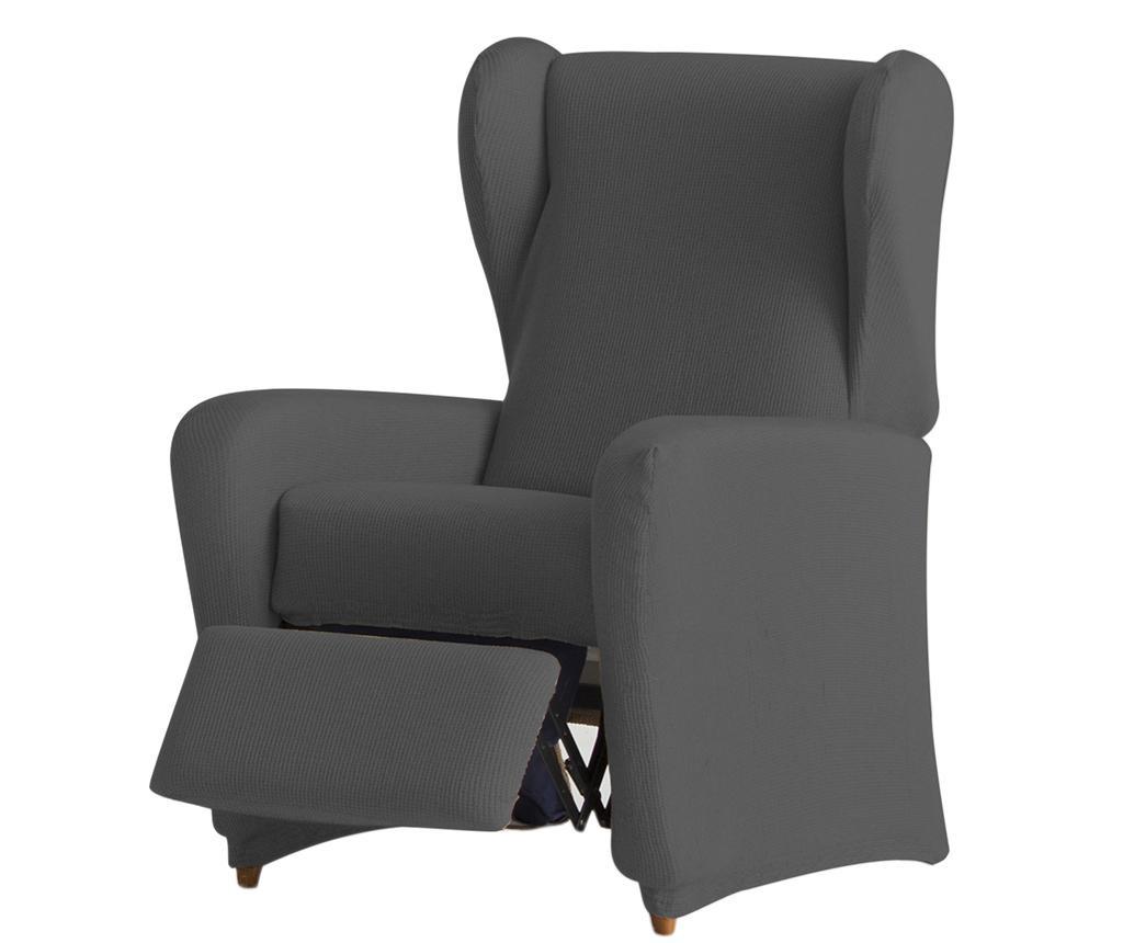 Pokrowiec elastyczny na fotel rozkładany Ulises Grey 60x120x90 cm