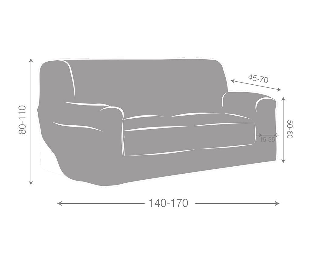 Husa elastica pentru canapea Ulises Brown 140-170 cm