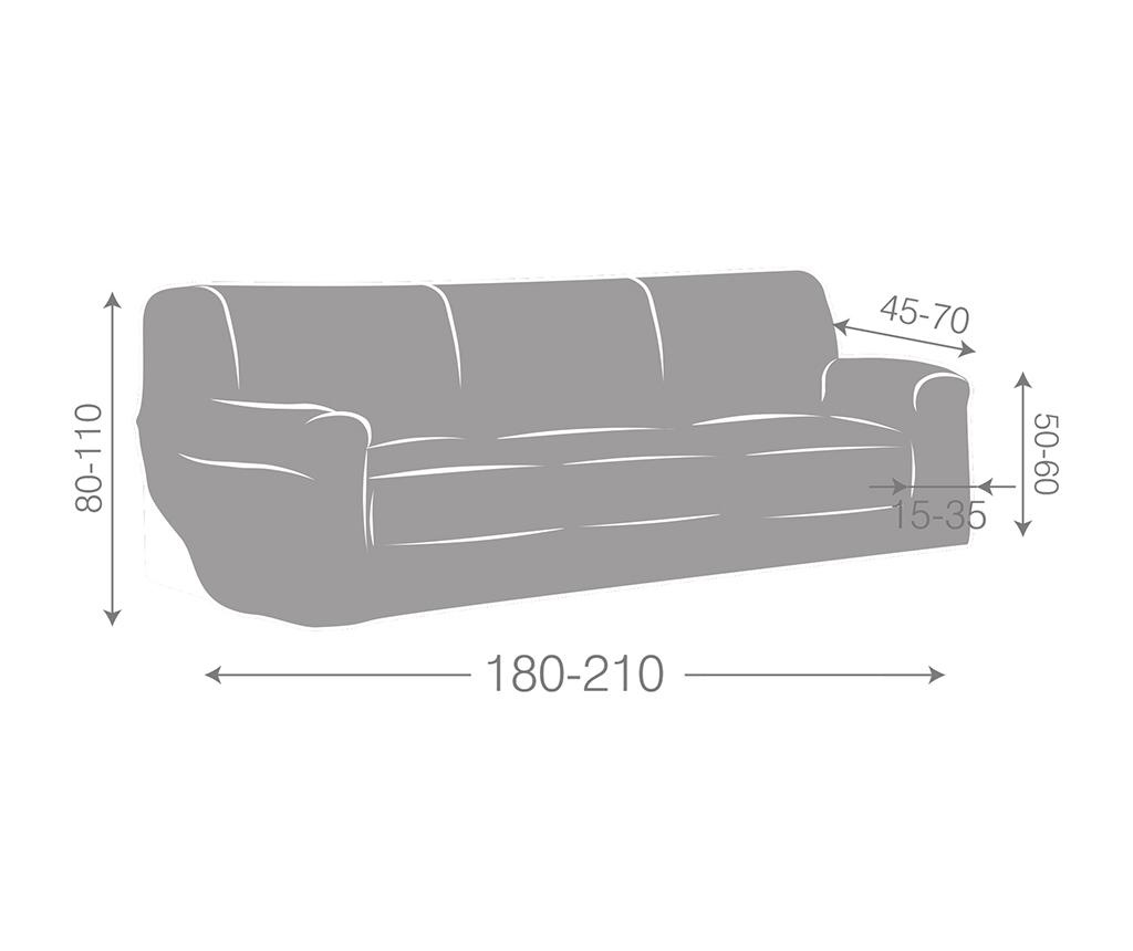 Elastický potah na pohovku Ulises Beige 180-210 cm