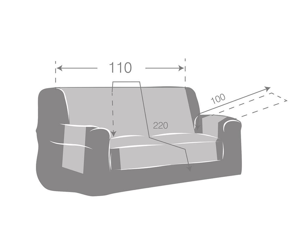Husa pentru canapea Zoco Brown 110 cm