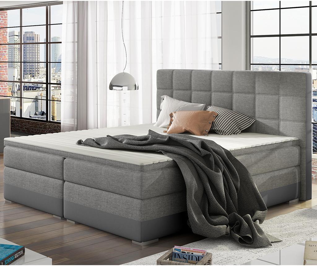 Damaso Grey Duo Boxspring ágy 160x200 cm