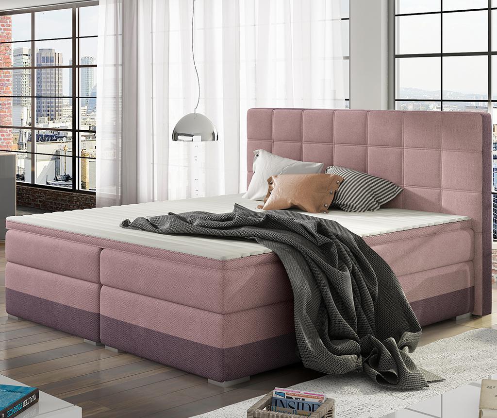 Damaso Pink Purple Boxspring ágy 160x200 cm