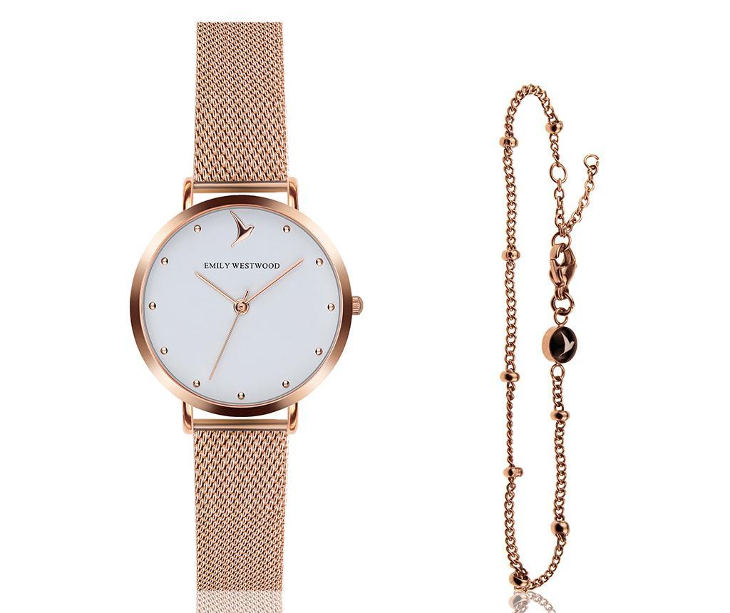 Set ceas de mana dama si bratara Emily Westwood Aura Glam Miriam Rose