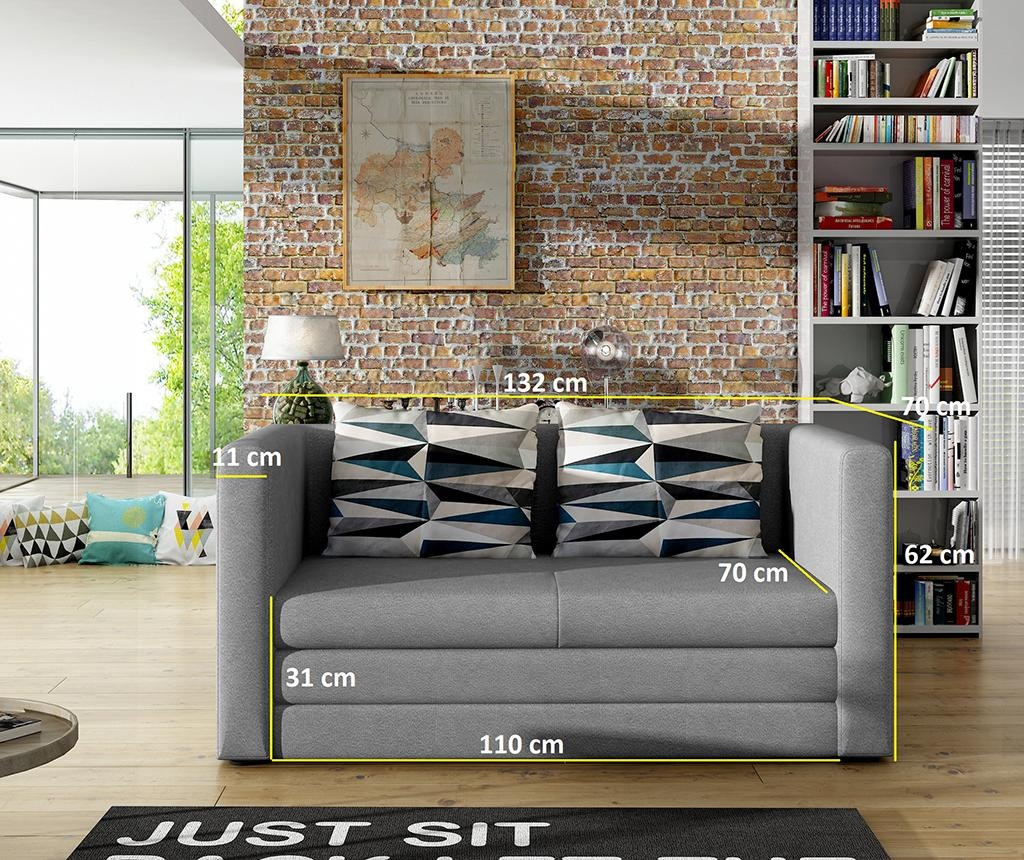 Canapea extensibila 2 locuri Neva Black