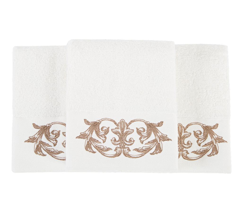 Set 3 kupaonska ručnika Queen Ecru 30x50 cm