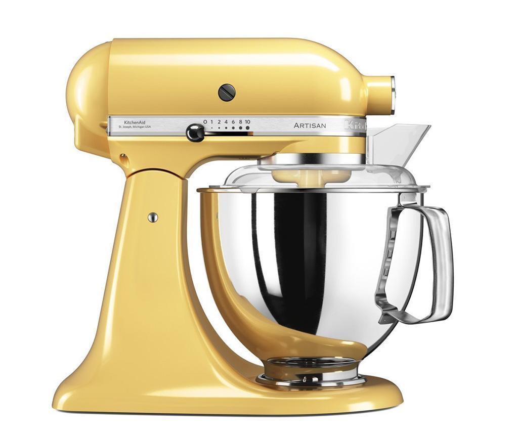 Mixer multifunctional cu bol KitchenAid Artisan Elegance Yellow