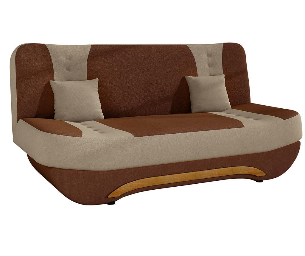 Canapea extensibila Ewa Brown Beige