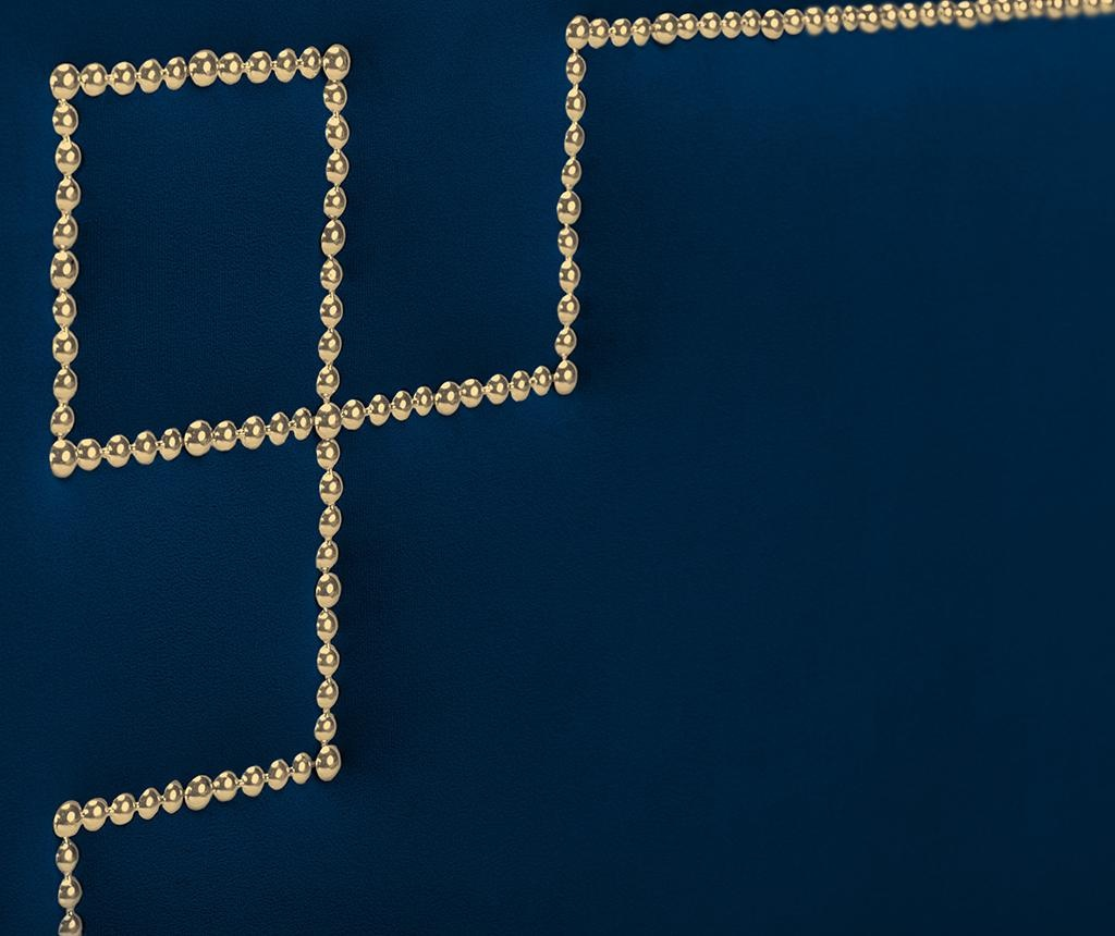 Tablie de pat Nicholas Dark Blue Gold Pins 120x200 cm