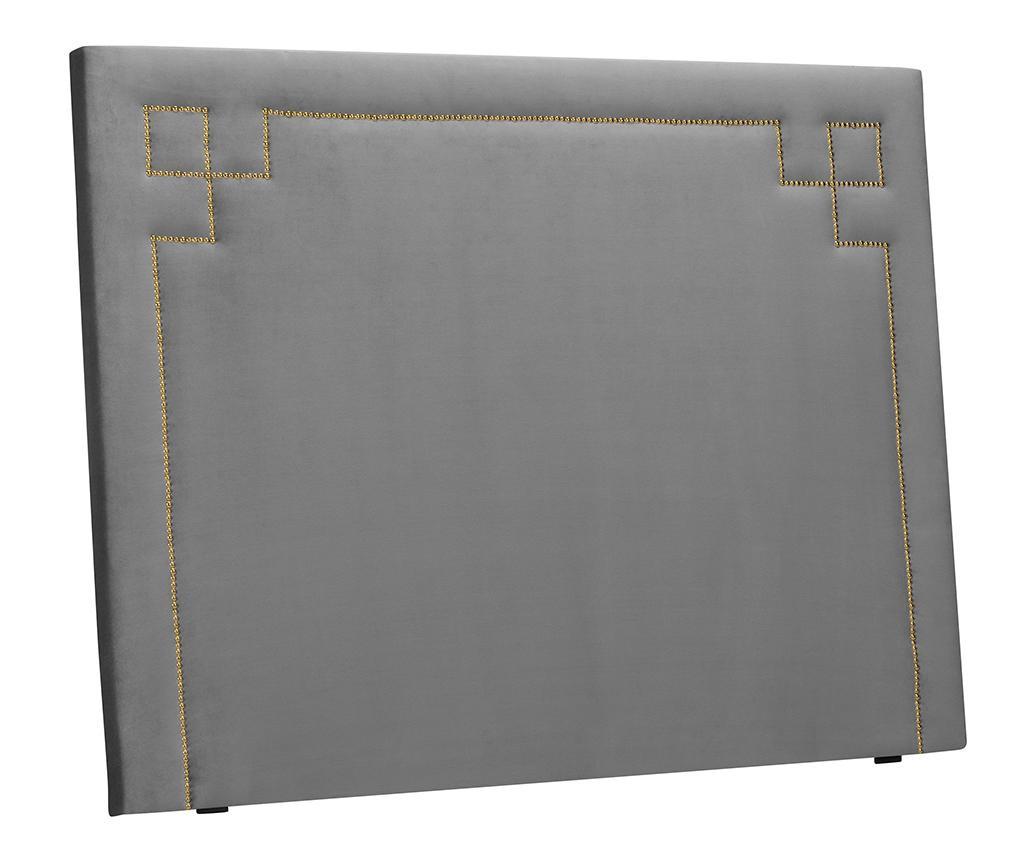 Tablie de pat Nicholas Light Grey Gold Pins 120x140 cm