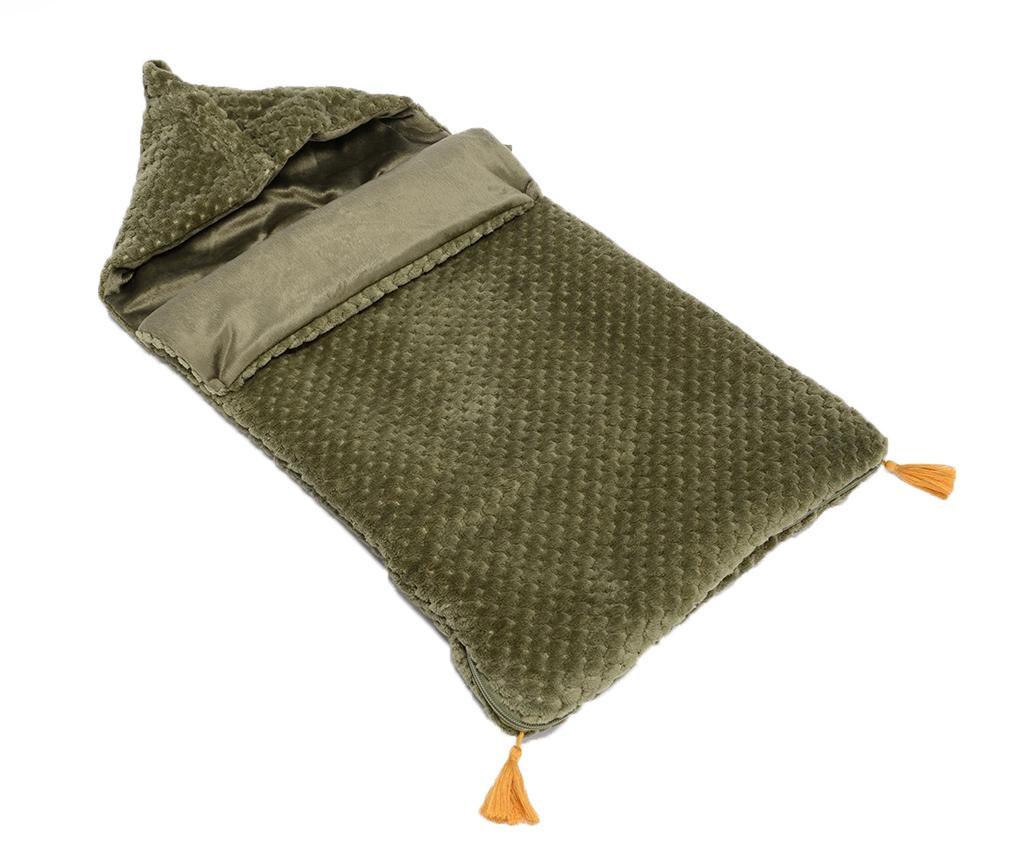Sac de dormit pentru copii Pompons Kaki 0-12 luni