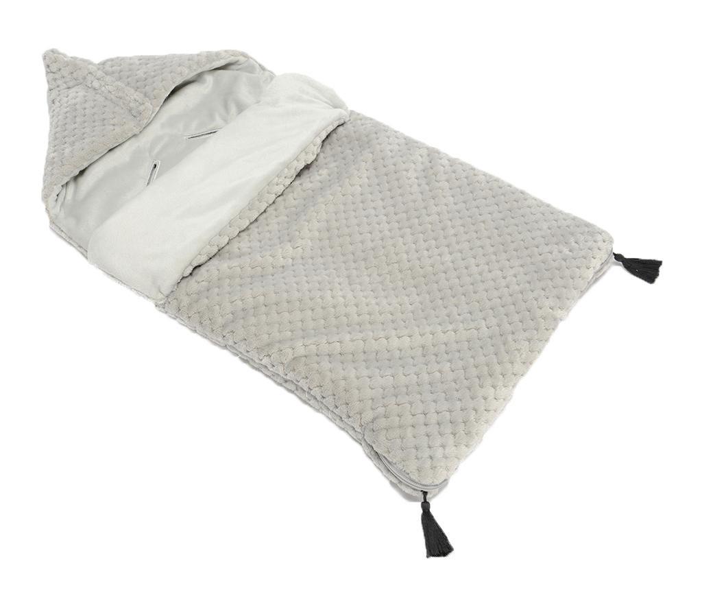 Sac de dormit pentru copii Pompons Grey 0-12 luni