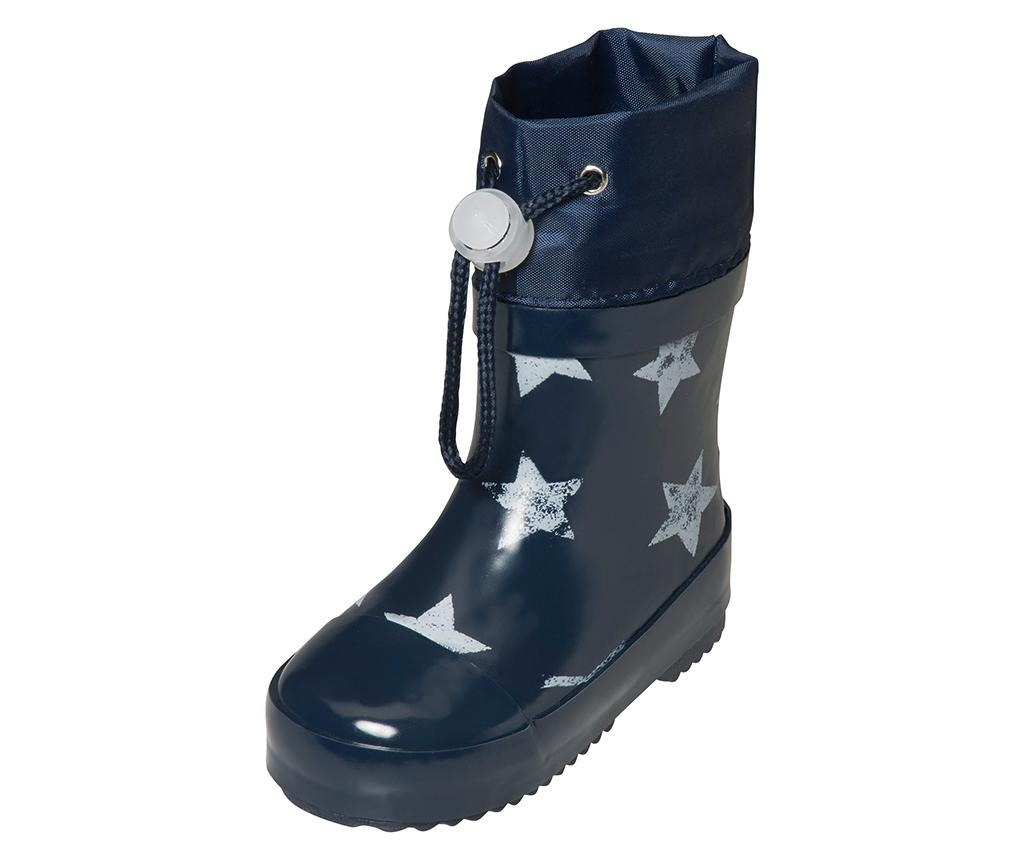 Cizme de ploaie copii Stars Navy 21