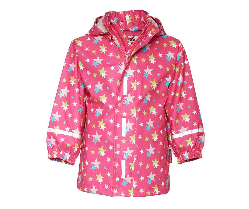 Set jacheta si salopeta impermeabila copii Stars Allover 2-3 ani