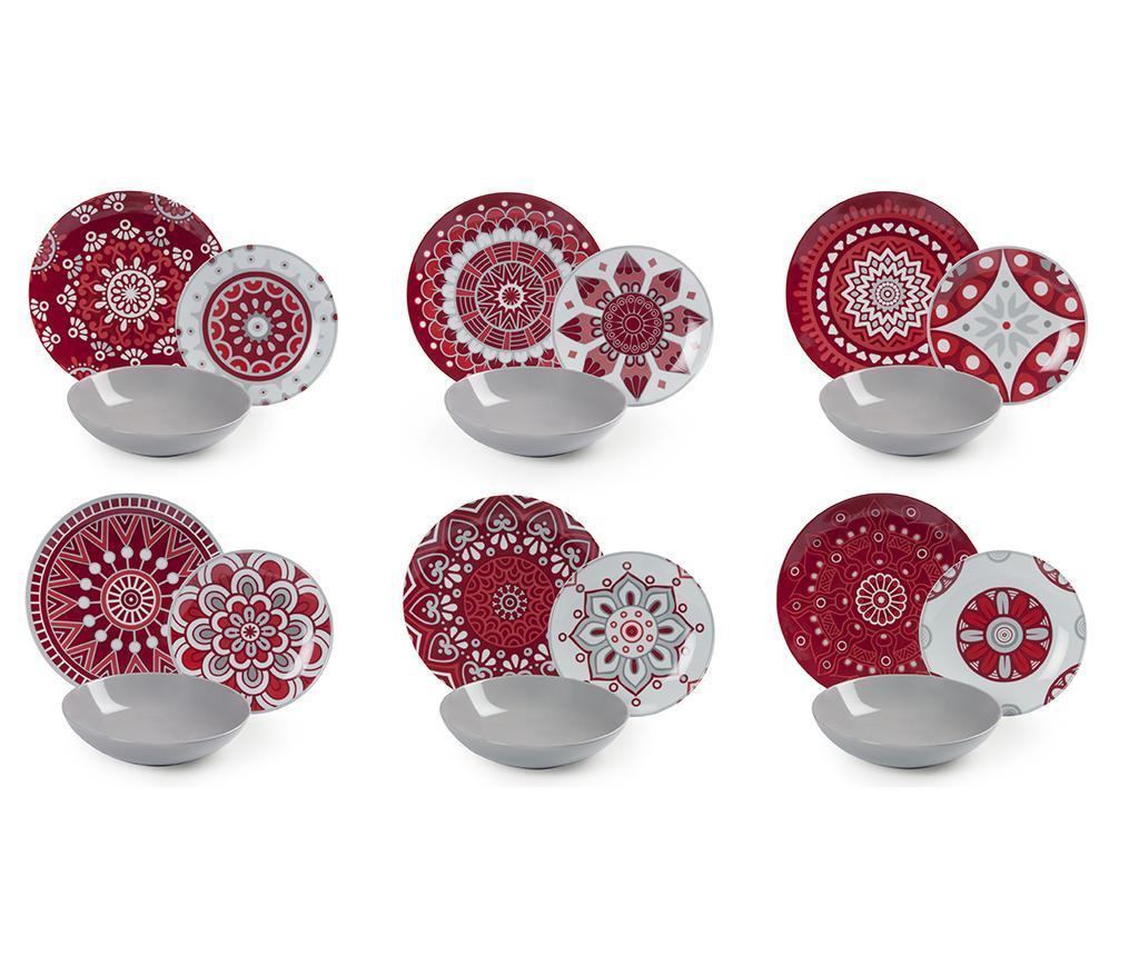 18-dijelni servis za jelo Red Mandala