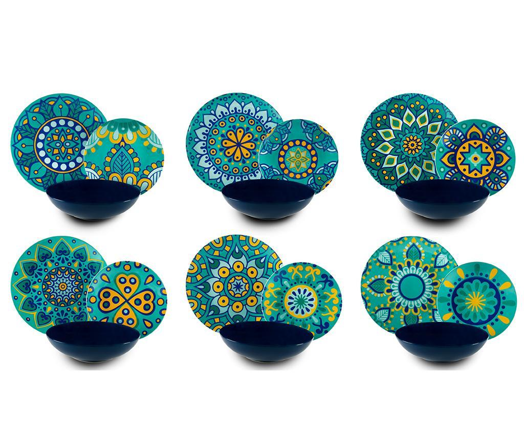 Set de masa 18 piese Mandala  Mediterraneo