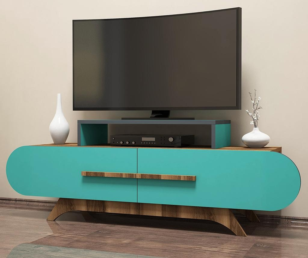 TV komoda Rose Walnut Turquoise