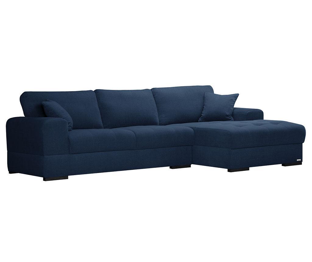 Desna kotna sedežna garnitura Passion Blue Indigo