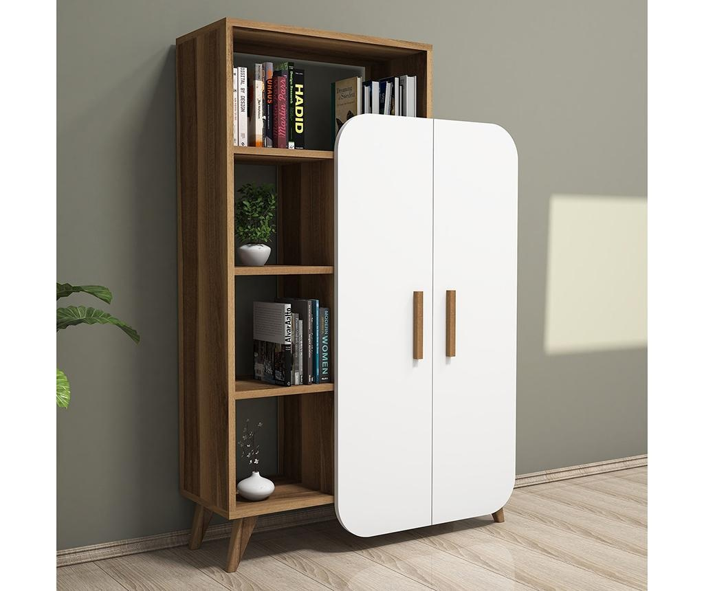Corp biblioteca Form  Walnut White
