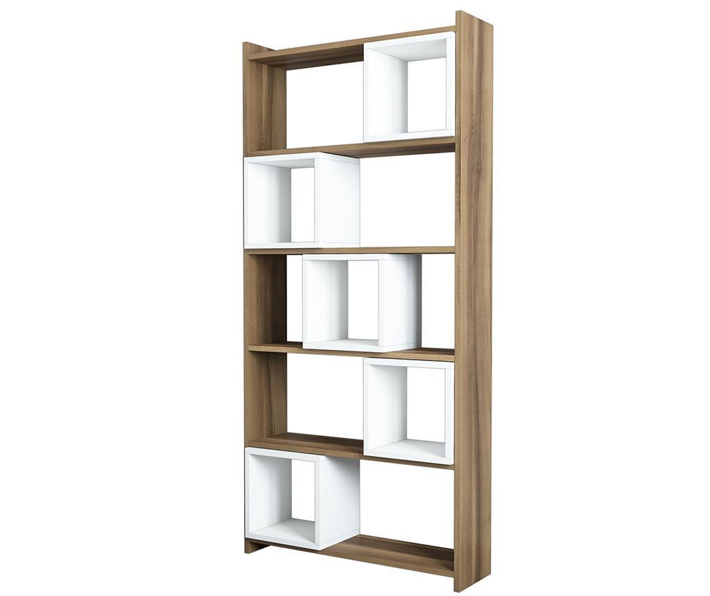 Box  Walnut White Könyvszekrény