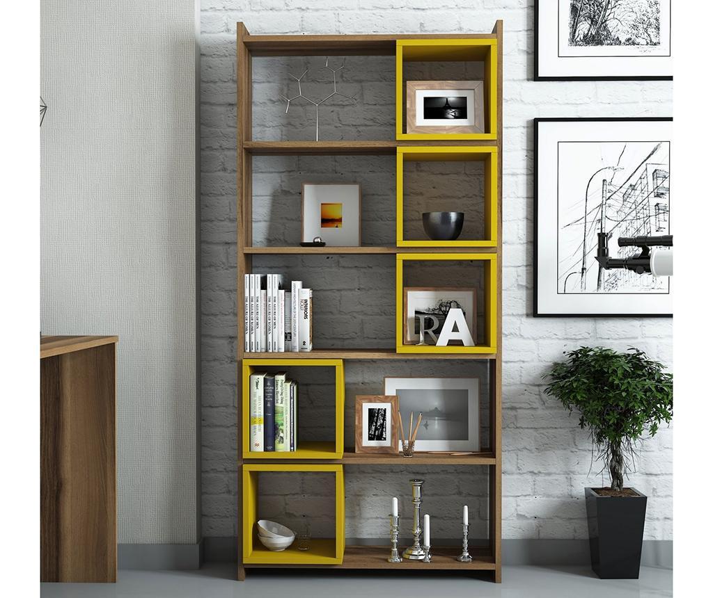 Regal za knjige Box  Walnut Yellow
