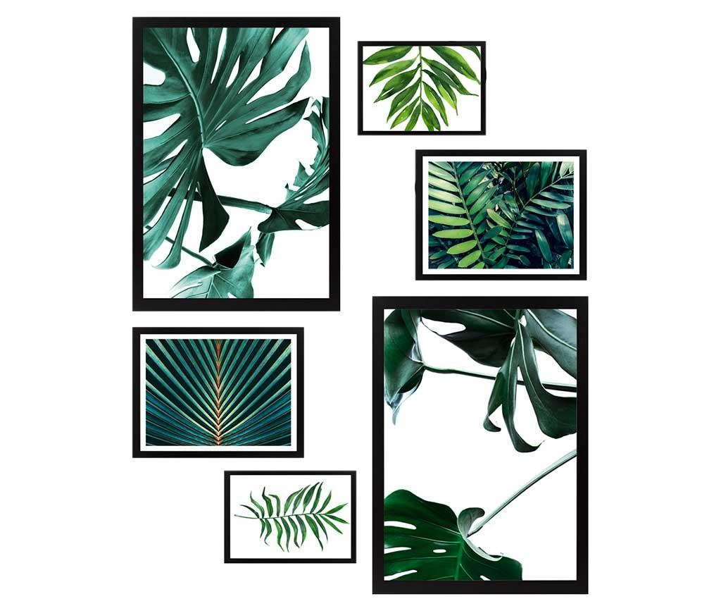 Set 6 tablouri Natural Green
