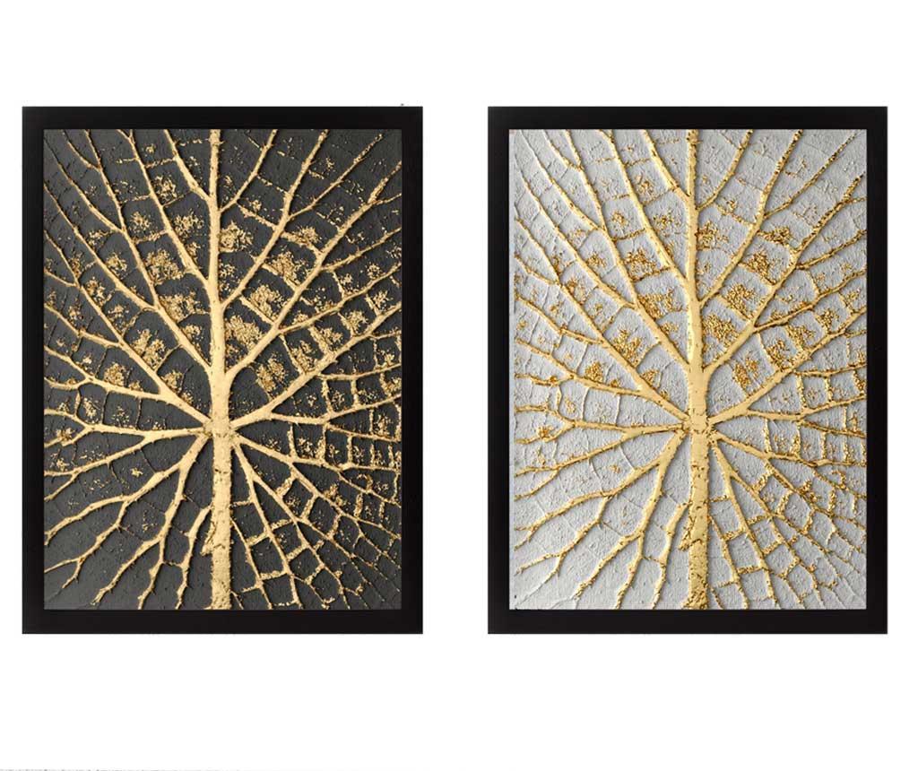 Set 2 slike Tree Golden 34x44 cm